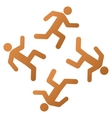 Running Men Gradient Icon vector image