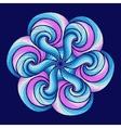 Mandala Colorful round ornament vector image