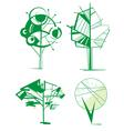 decorative tree set vector image