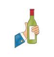 drink bottle hand vector image