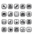Education science and studies icons vector image