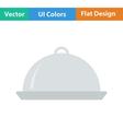 Flat design icon of Restaurant cloche vector image