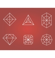 Set of diamonds icons vector image