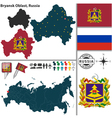 Map of Oblast of Bryansk vector image