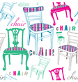 Chairs pattern vector image vector image