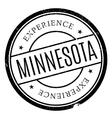 Minnesota stamp rubber grunge vector image