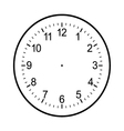 clock face blank isolated on white background vector image