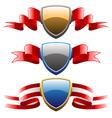 badges and ribbons set vector image vector image