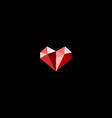 Diamond heart symbol vector image vector image