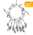 American Indian dream catcher with feathers vector image vector image