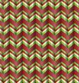Chevron holiday ribbon paper pattern vector image