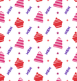 Seamless Texture with Cupcakes Cakes and Candies vector image vector image