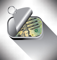 sardine can Money vector image vector image