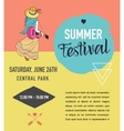 Bohemian summer music event and festival poster vector image