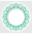 Abstract White Round Frame with Emerald Digital vector image