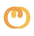 delicious pretzel isolated icon vector image