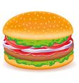 hamburgers isolated on white background vector image