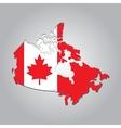 map Canada vector image
