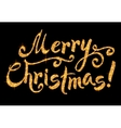 Merry Christmas golden glitter sign vector image
