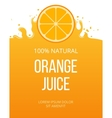 Natural orange juice label template vector image
