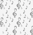 Perforated G clef and music notes vector image