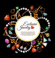 poster of jewelry fashion accessories vector image