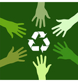 recycling green team vector image