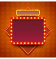 Retro poster with neon lights square board vector image