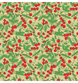Seamless texture of juicy strawberries vector image