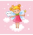 The little girl princess with a magic wand vector image