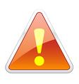 Hazard Warning Attention Icon vector image