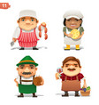 food industry professions vector image