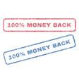 100 percent money back textile stamps vector image