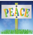 pease sign vector image vector image