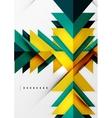 Futuristic geometric shapes minimal design vector image vector image