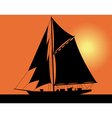 yacht silhouette vector image