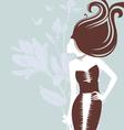 women -silhouette florals vector image vector image