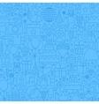 Birthday Blue Line Seamless Pattern vector image