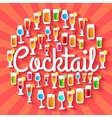 Colorful cocktail drink circle infographics vector image