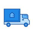 delivery van line icon vector image