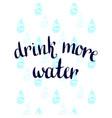 drink more water handwritten motivation poster vector image