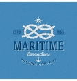 Retro Navy Trading Company Label or Logo vector image