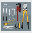 Set of tools collection vector image