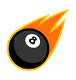 sport ball fire pool vector image