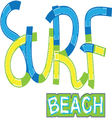 Surf Beach typography t-shirt graphics vector image