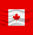 waving flag of canada for vector image