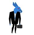 Donkey businessman Metaphor of Democratic Party of vector image