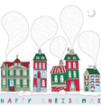 Christmas Township Card vector image vector image