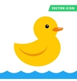Duck rubber toy yellow color flat vector image vector image