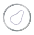 Pearl necklace icon in cartoon style isolated on vector image